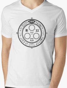 The Halo of The Sun (Black) Mens V-Neck T-Shirt