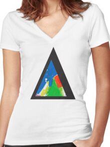 Alt-j This Is All Yours Triangle Women's Fitted V-Neck T-Shirt