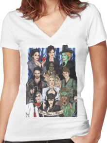 Once Upon A Villain Women's Fitted V-Neck T-Shirt
