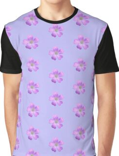 Lilac Flower Graphic T-Shirt