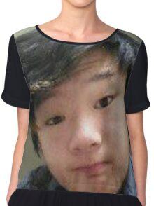 Strange Asian Teenager Chiffon Top