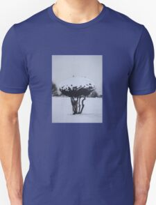 Christmas snow landscape scenic original art  Unisex T-Shirt