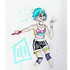 """Paramore on Monumentour: Aqua"" - iPhone Covers  by carpentre"