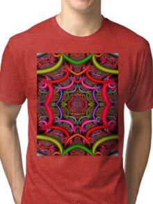 """ORIENTAL"" Psychedelic Art Deco Print Tri-blend T-Shirt"