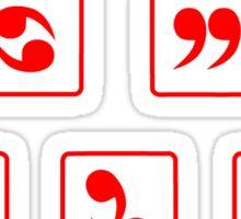 Funny Comma Sutra  Sticker