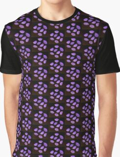 Circle of Leaves - purple Graphic T-Shirt