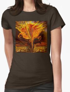 Flame of Love- Abstract 114-   Art + Products Design  Womens Fitted T-Shirt