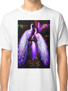 """PEACOCKS"" at a Waterfall Art Deco Print Classic T-Shirt"