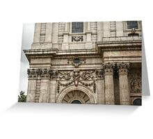 Engaged Columns and Relief Sculptures Greeting Card