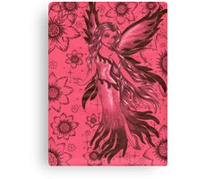 Red Fantasy Fairy Canvas Print