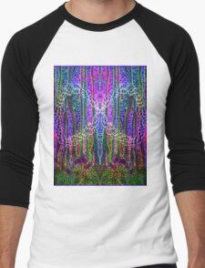 """PSYCHEDELIC"" Art Deco Abstract Art Print Men's Baseball ¾ T-Shirt"