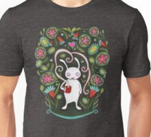 White Rabbit with Coffee Unisex T-Shirt