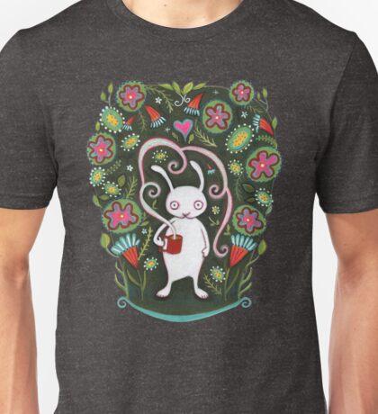 White Rabbit with Coffee Unisex T-Shirt