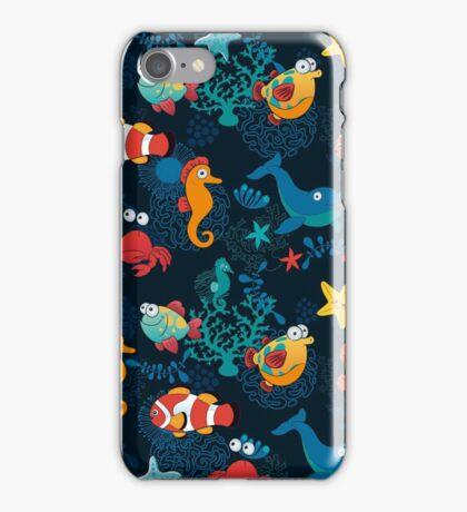 Cute Cartoon Fish Undersea Adventure iPhone Case/Skin