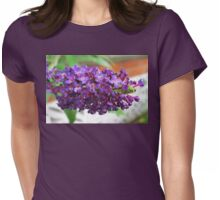 Blessed with the Best - Deep Purple Buddleia After Rain Womens Fitted T-Shirt