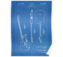Fender Telecaster Guitar US Patent Art Blueprint Poster
