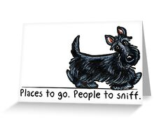 Scottie People to Sniff Greeting Card
