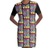 VHS Graphic T-Shirt Dress