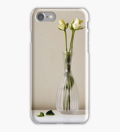 Three white roses iPhone Case/Skin