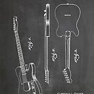 Fender Telecaster Guitar US Patent Art Blackboard by Steve Chambers