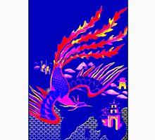 """FLYING PHOENIX"" Art Deco Bird Print Unisex T-Shirt"