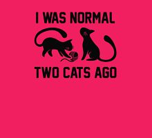 I Was Normal Two Cats Ago Womens Fitted T-Shirt