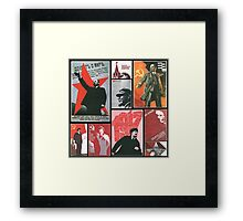 URSS - Cult of personality Framed Print