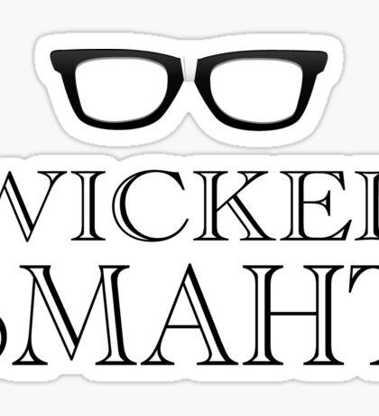 Wicked Smarht(Smart) Boston Humor Sticker