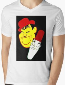 """LAUREL and HARDY"" Art Deco Print Mens V-Neck T-Shirt"