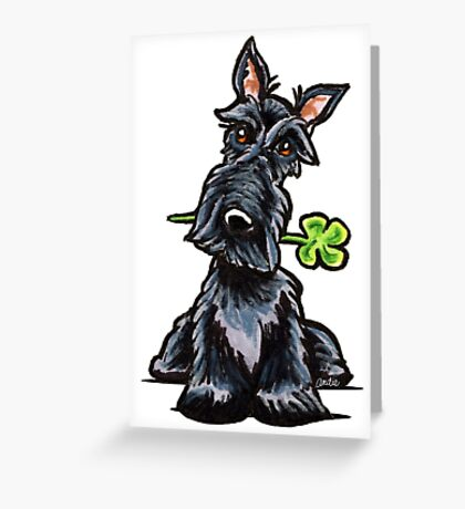 Lucky Scottie Greeting Card