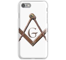 Wooden Masonic Emblem iPhone Case/Skin