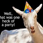 Party Goat Real Party Animal by TSFPhotoCartoon