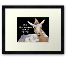 Party Goat Real Party Animal Framed Print