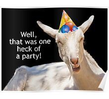 Party Goat Real Party Animal Poster