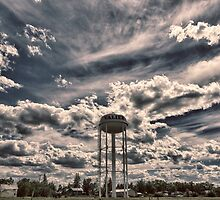 Valier Water Tower by Donna Ridgway
