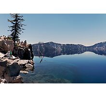Swimmer at Crater Lake.  Photographic Print