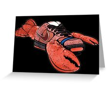 dunk red lobster sb Greeting Card