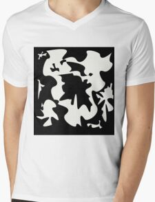 Black and white elegant design by Moma Mens V-Neck T-Shirt