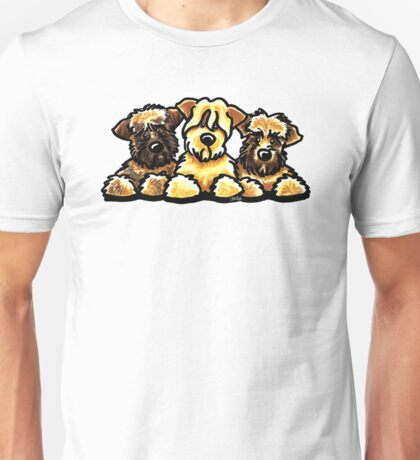 Three Wheaten Softies Unisex T-Shirt