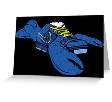 blue lobster sb dunk Greeting Card