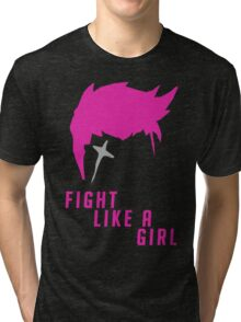 Zarya - Fight Like A Girl Tri-blend T-Shirt