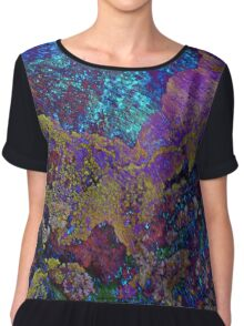Purple Moss Grunge Chiffon Top