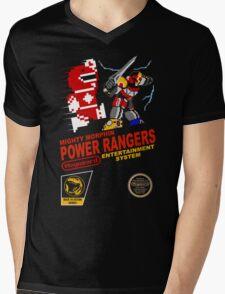 8-bit Power Rangers Mens V-Neck T-Shirt