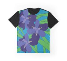 Iris Blue Graphic T-Shirt