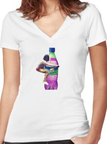 Chief Keef Sosa Lean Women's Fitted V-Neck T-Shirt