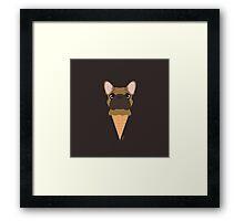 Ice Cream Frenchie Framed Print