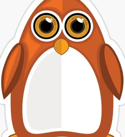 Brown Orange Penguin 2  Sticker