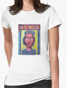 El Che y corazones by Diego Manuel Womens Fitted T-Shirt