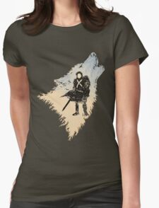 Ghost Wolf Womens Fitted T-Shirt