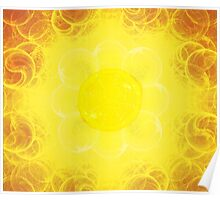 Blooming Sun || Future Life Fashion || Fractal Art Poster